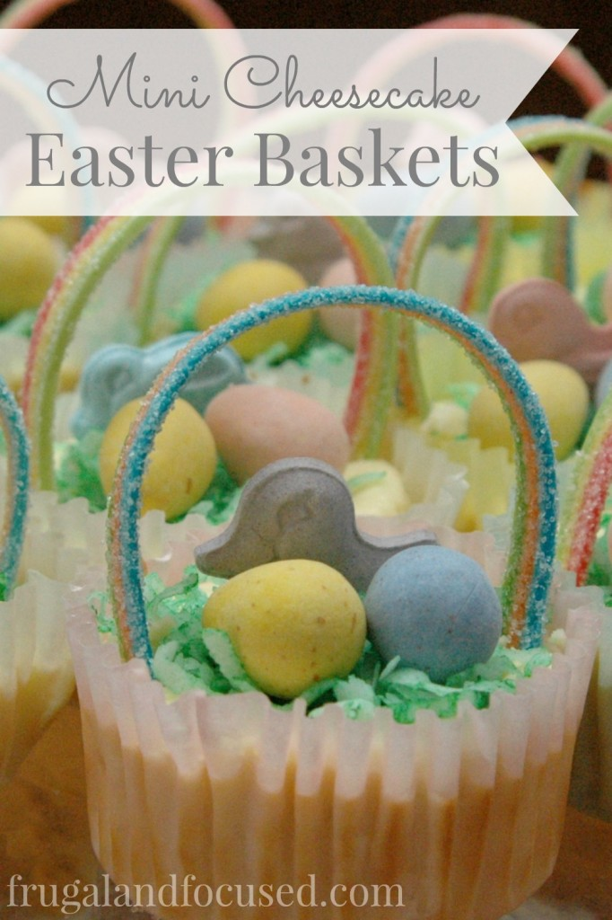 Mini Cheesecake Easter Baskets Tall
