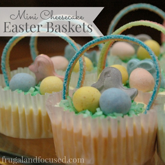Mini Cheesecake Easter Baskets sq