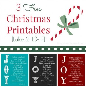 Wednesday Word: Joy – Luke 2:10-11 Free Printables