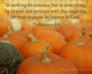 Wednesday Words: With Thanksgiving – Philippians 4:6