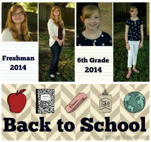 High School and Middle School, Oh My! – Back To School 2014