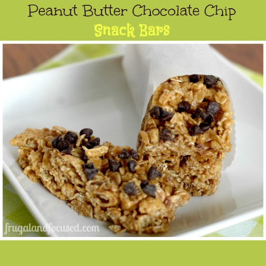 Peanut Butter Chocolate Chip Snack Bars