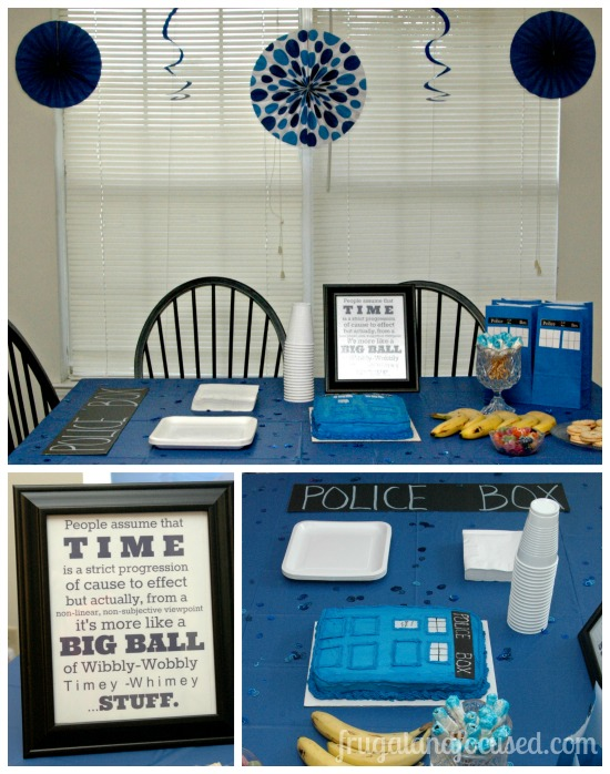 A WibblyWobbly TimeyWhimey Dr Who Party Frugal Focused