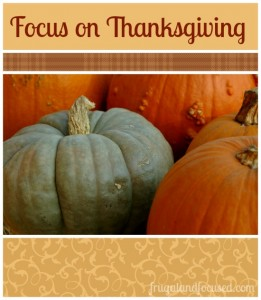 Let's Focus on Thanksgiving