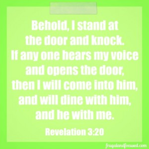 Wednesday Word: Stand and Knock – Revelation 3:20