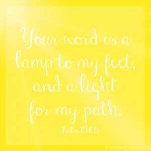 Wednesday Word: Lamp – Psalm 119:105