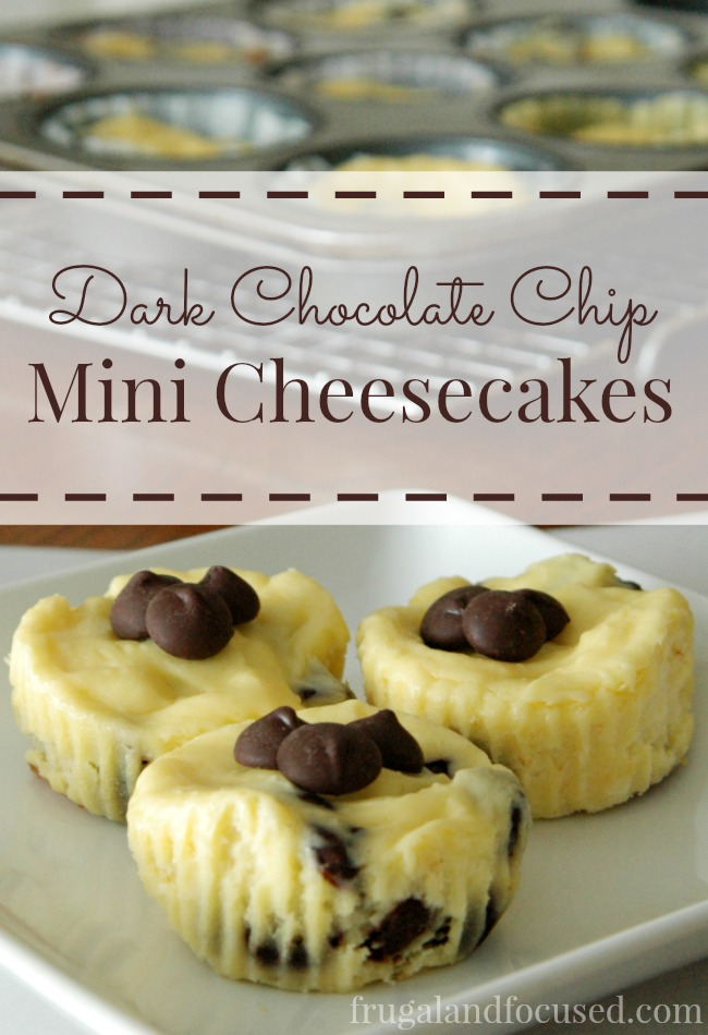 Dark Chocolate Chip Mini Cheesecakes Tall