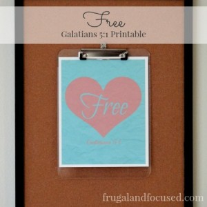 Free Galatians 5:1 Inspired Printable