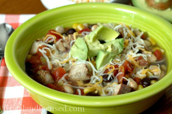 Smoked Chicken Taco Soup close