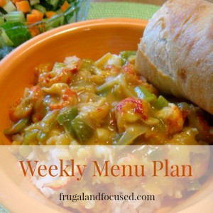 Weekly Menu Plan 1/11/16