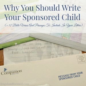 Why You Should Write Your Sponsored Child (+12 Bible Verses and Passages to Include in Your Letters)