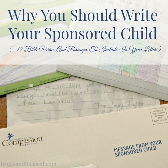 Why You Should Write Your Sponsored Child
