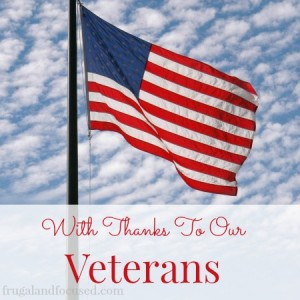 With Thanks To Our Veterans + A List of Discounts and Freebies