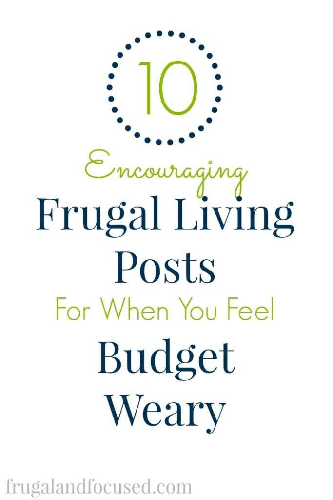 Encouraging Frugal Living Post