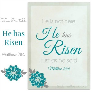 Free Printable – He Has Risen Matthew 28:6