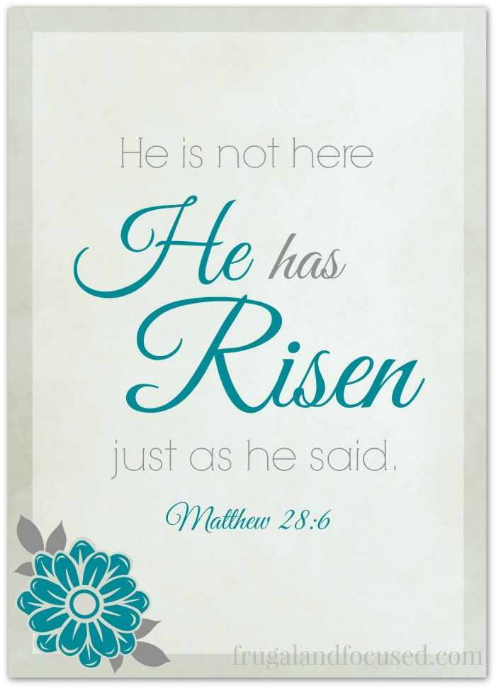 image relating to He is Risen Printable referred to as No cost Printable - He Incorporates Risen Matthew 28:6 - Frugal Centered