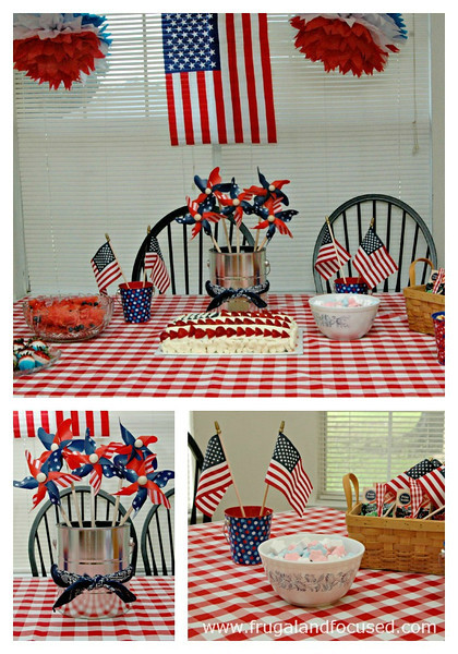 red, white, and blue celebration