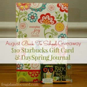 Back To School Giveaway: $10 Starbucks Gift Card & DaySpring Journal
