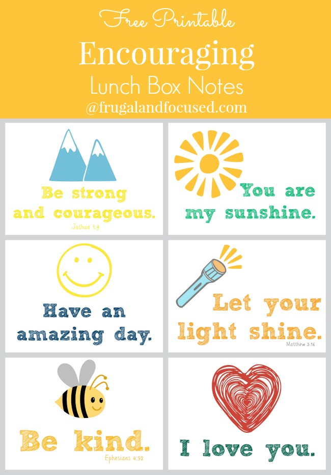 Encouraging Lunch Box Notes header