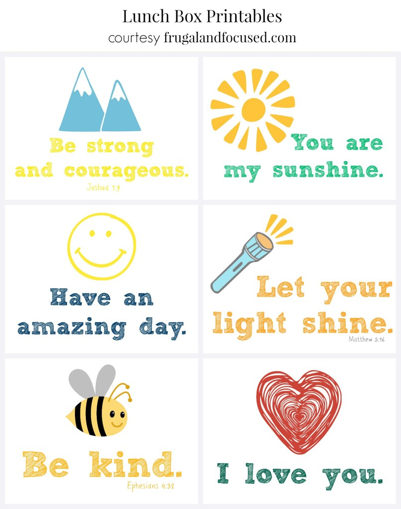Encouraging Lunch Box Printables