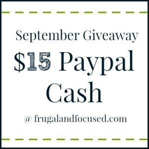 September Giveaway: $15 Paypal Cash