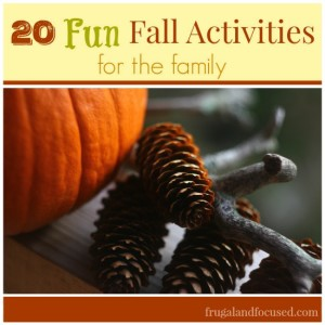 20 Fun Fall Activities For The Family + Free Printable