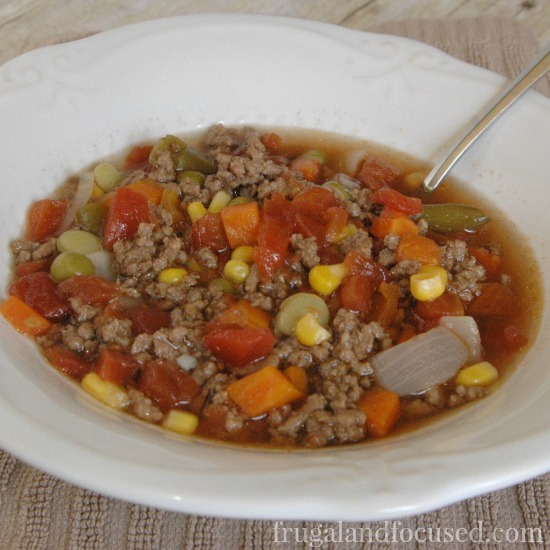 31 Days of Healthy Dinner Ideas: Hamburger Vegetable Soup