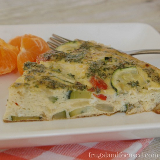 31 Days of Healthy Dinner Ideas: Zucchini Red Pepper Frittata