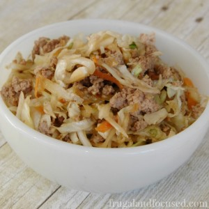 Healthy Dinner Idea: Egg Roll In A Bowl (THM, Real Food, Paleo)
