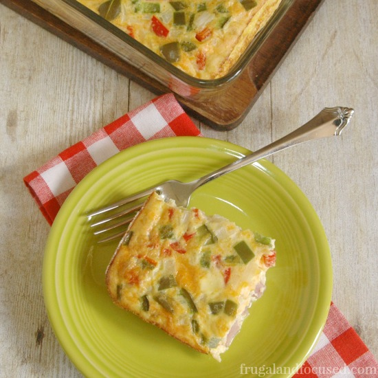 31 Days of Healthy Dinner Ideas: Baked Western Omelet