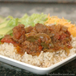 Healthy Dinner Idea: Crock Pot Salsa Beef (Real Food, THM, Paleo)