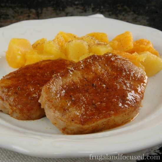 31 Days of Healthy Dinner Ideas: Maple Glazed Pork Chops