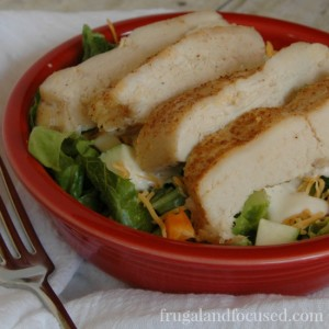 Healthy Dinner Idea: Cajun Chicken Strip Salad (THM, Real Food)