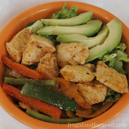 31 Days of Healthy Dinner Ideas - Paleo Chicken Fajita Bowl