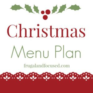 Christmas Menu Plan 2016